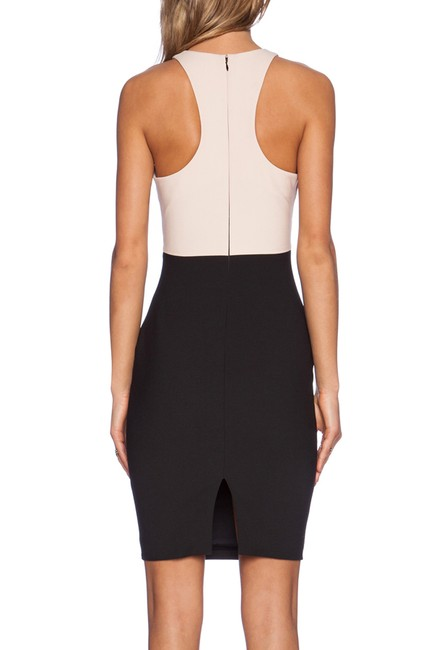 Elizabeth and James Sheath Racer-back Bodycon Cut-out Color-blocking Dress