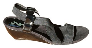 Anne Klein Patent Black Wedges