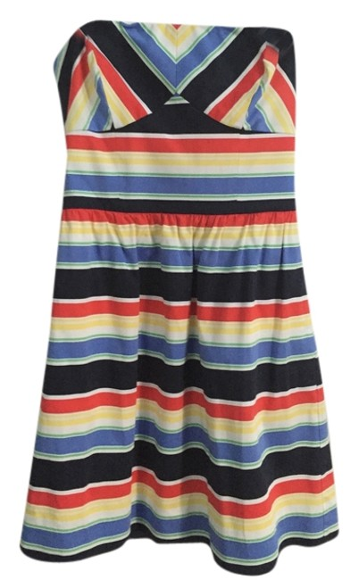 Item - Multi Colored Above Knee Short Casual Dress Size 6 (S)