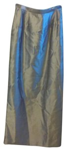 Alex Evenings Long Women Girls Formal Maxi Skirt Silver