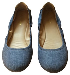 Cole Haan Denim & Gold Flats
