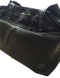 Lululemon Chevron Yoga Gym Tote Black Travel Bag