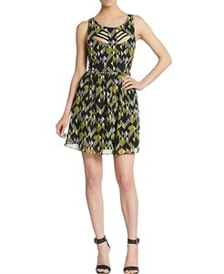 French Connection short dress Yellow/Black on Tradesy