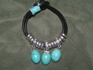 Black/Turquoise Price Reduced Bogo Free Any Two Listings Plus Free Shippin Bracelet