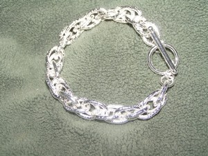 Twisted Link Sterling Plated Bracelet Free Shipping
