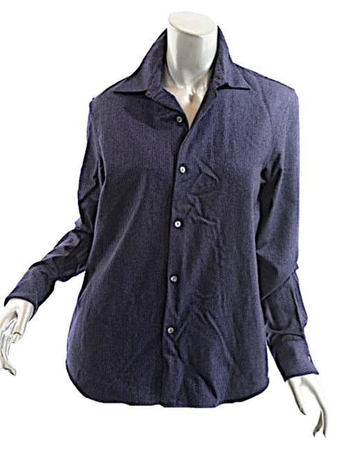 Preload https://item1.tradesy.com/images/ralph-lauren-navy-and-white-navywhite-pin-stripe-wool-shirt-button-down-top-size-10-m-5121055-0-0.jpg?width=400&height=650