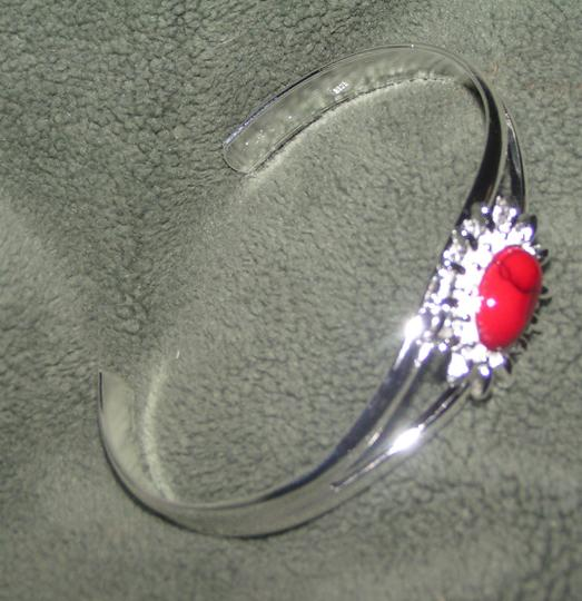 Silver/Red Bogo Cuff Free Shipping Bracelet