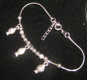 Sterling Plated Fishy Bracelet Free Shipping