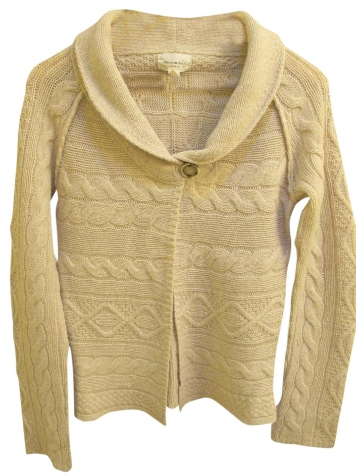 f297df25be Banana Republic 1 Button Cardigan Oatmeal Sweater - Tradesy