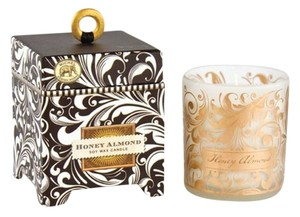 Michel Design Works Black Florentine Small Soy Candle 6.5oz - Scent: Hiney Almond (Brand New)