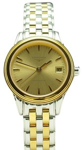 Longines Longines Lady's Flagship Two Tone Automatic Stainless Steel & Gold Tone Bracelet Watch L4.274.3.32.7 L42743327