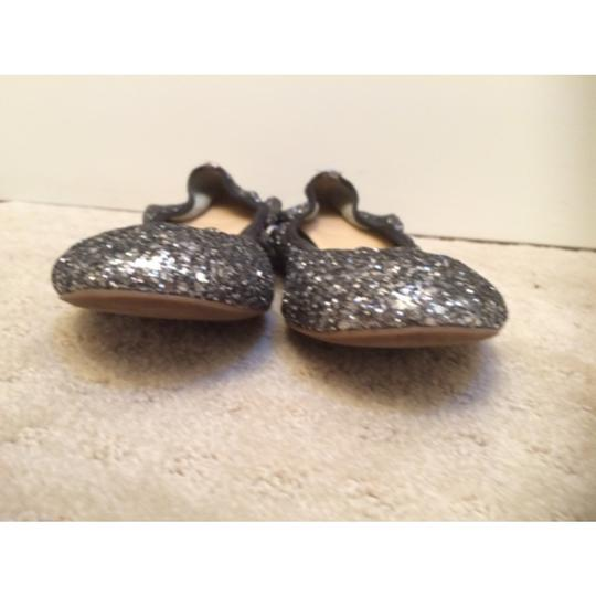 J.Crew Silver with black piping Flats
