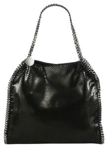 Stella McCartney Faux Leather Designer Tote in Black