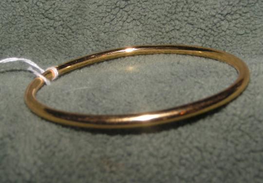 Yellow Gold Small Solid 9k Filled Bangle Free Shipping Bracelet
