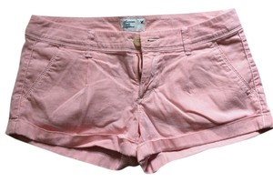 American Eagle Outfitters Cuffed Shorts Pink/white