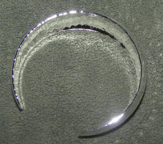Silver Hammered Cuff Bracelet Free Shipping