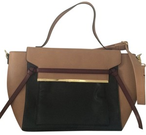 79075afeb1 Steve Madden Nude Black Burgundy Trimming Laptop Bag - Tradesy