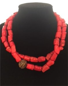 Studio Barse Red Sea Bamboo Coral 2-Strand Beaded Necklace
