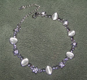 Cats Eye & Star Silver Tone Bracelet/anklet Free Shipping