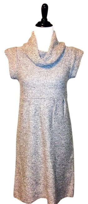 Preload https://item3.tradesy.com/images/gray-heathermixed-cowl-neck-sweater-small-knee-length-short-casual-dress-size-4-s-512257-0-0.jpg?width=400&height=650