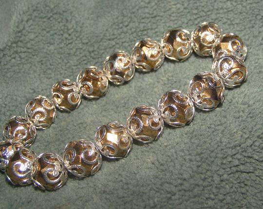 Other Gold & Silver Rhinestone Stretch Bracelet Free Shipping