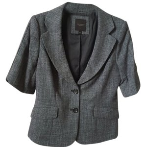 The Limited Short Sleeved Lined Dark Brown Blazer