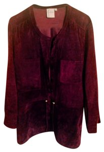 Finley Suede Eggplant Leather Jacket