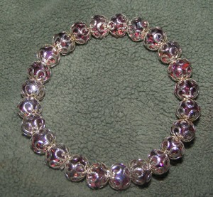 Purple Crystal Stretch Bracelet Free Shipping