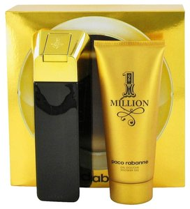 Paco Rabbane NIB 1 Million Cologne for Men by Paco Rabanne Gift Set (includes 3.4oz EDT Spray Perfume & 3.4oz Shower Gel)