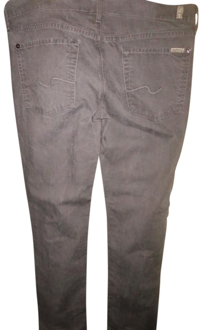 7 For All Mankind Distressed Straight Leg Jeans-Dark Rinse