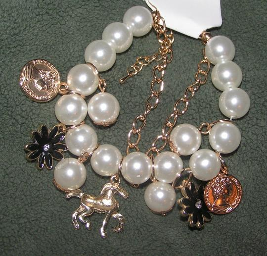 Other Cute Rhinestone Horse Pearl Charm Bracelet/Anklet Free Shipping