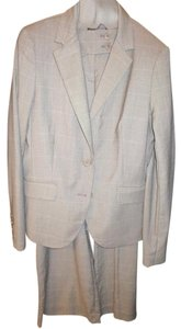 New York & Company Gray Plaid Work Suit