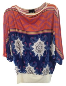 analili Top Blue, orange, purple, white, gold multi color blouse