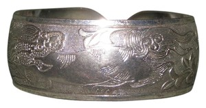 Dragon Dog Wide Cuff Tibet Silver Bracelet Free Shipping