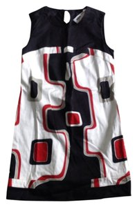 Population short dress Black/Red on Tradesy