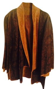 Citron Silk Reversible Brown and Tobacco Jacket
