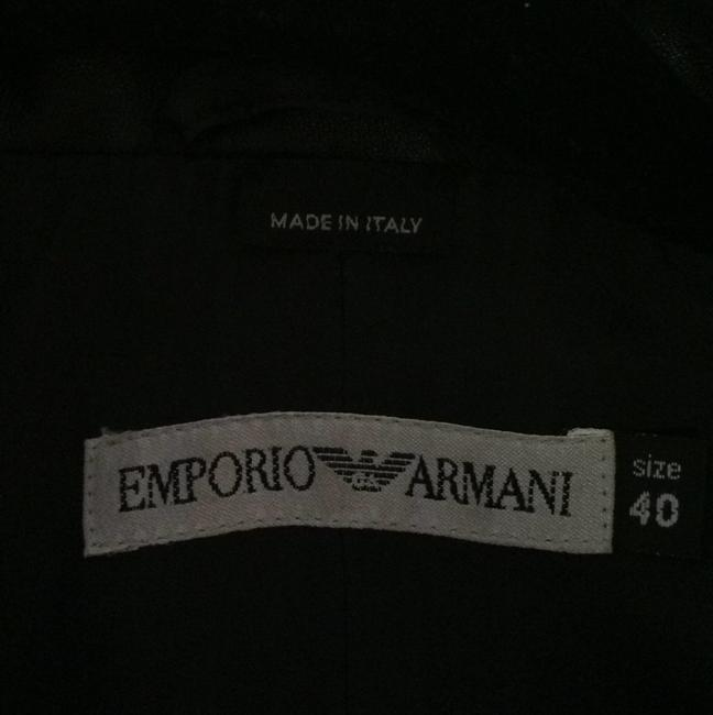 Emporio Armani Leater Coat Fitted Size 6 Trench Coat Image 4