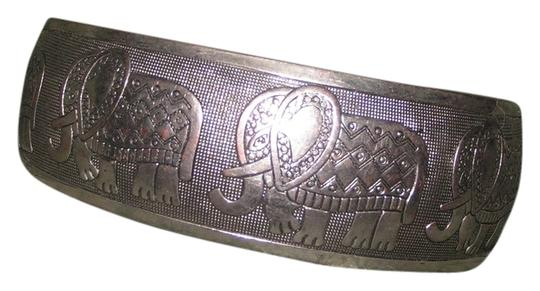 Other Lucky Elephant Tibet silver wide cuff bracelet free shipping