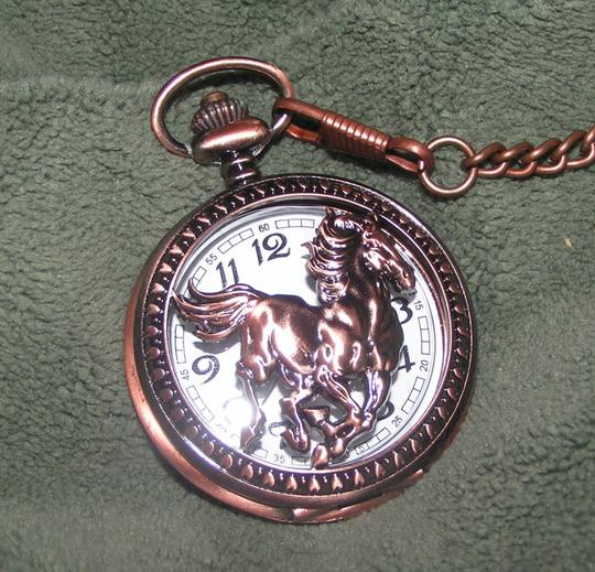 Other Quartz Horse Copper Pocket Watch Free Shipping