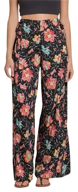Hollister Swingy High Waist Classic Fashionista Casual Chic Wide Leg Pants Floral