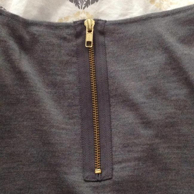 J.Crew Top Gray with brown lining
