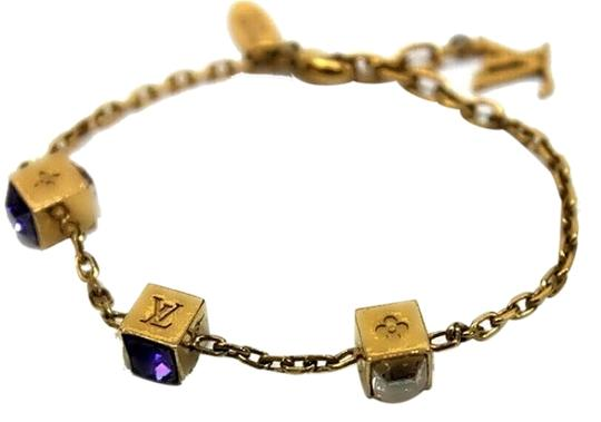 Louis Vuitton Authentic Louis Vuitton Monogram Gamble Bracelet with Swarovski Elements