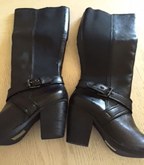 Steven by Steve Madden Leather Never Worn Riding New Black Boots