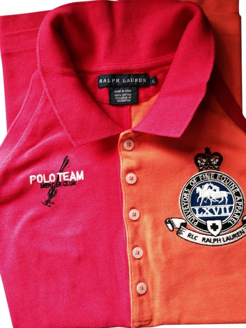 Preload https://item1.tradesy.com/images/polo-ralph-lauren-pink-and-orange-t-shirt-5124745-0-0.jpg?width=400&height=650