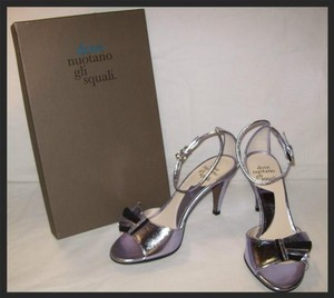 BHLDN Metallic Folding Fan Peep-toes Formal Size US 7