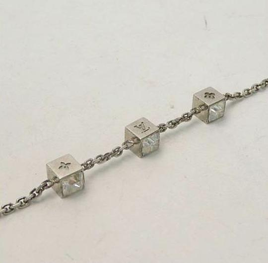 Louis Vuitton Authentic Louis Vuitton Monogram Silver-Tone Gamble Bracelet