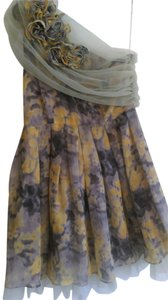 Ryu short dress grey/charcoal/yellow Special Occasions Fall on Tradesy