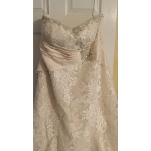 Mori Lee Ivory Formal Wedding Dress Size 24 (Plus 2x)