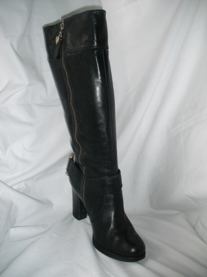 Juicy Couture Horse Bit Leather Tall Black Boots Image 1