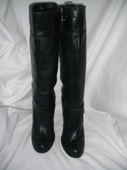 Juicy Couture Horse Bit Leather Tall Black Boots Image 3